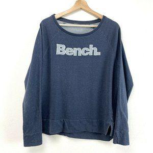Bench Blue Long Sleeve Graphic Sweatshirt Sweatshi